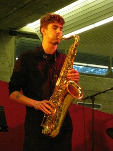 Ruben Fox performing at Q E Hall, Southbank Centre